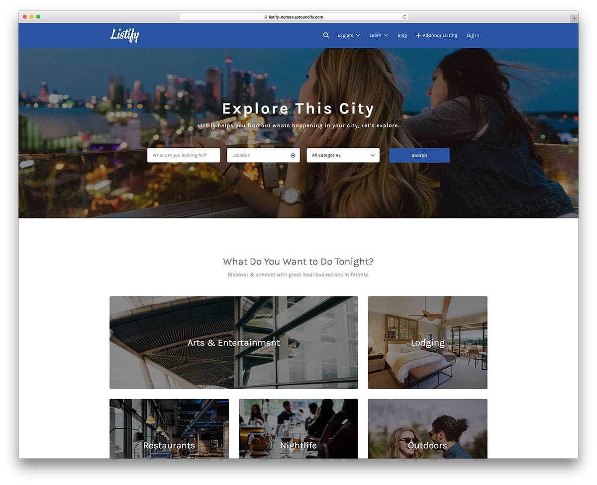 Listify Creative Directory WordPress Template